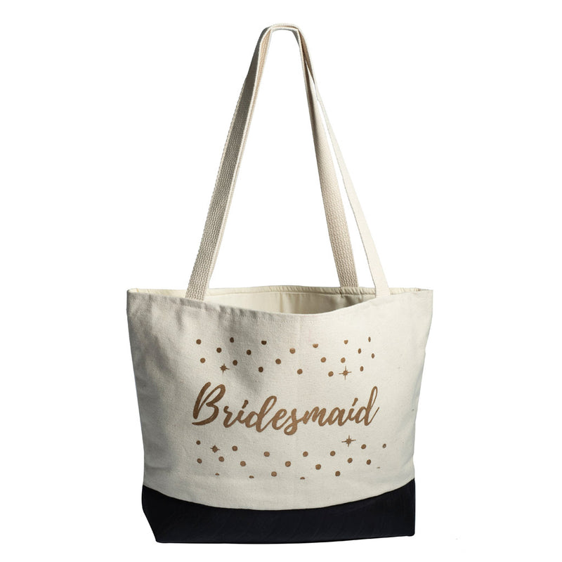 Just Married Canvas Tote