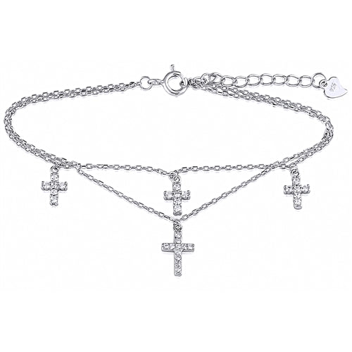 Dangling Cross Bracelet