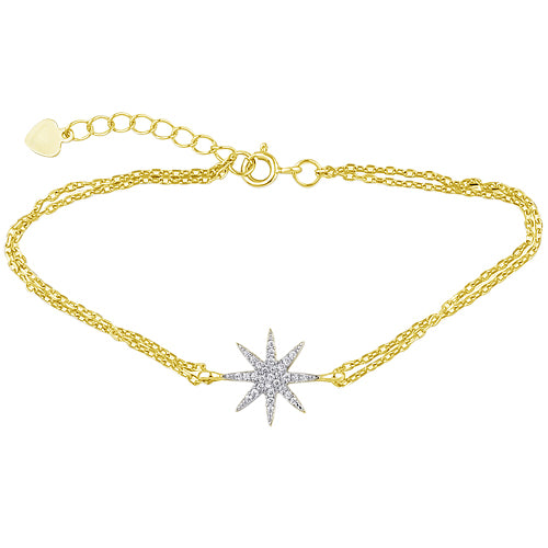 Dual Chain North Star Bracelet