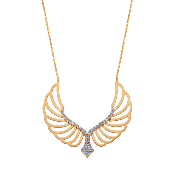 Hollow Angel Wings Necklace
