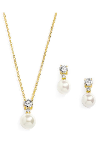 Pearl Necklace & Earring