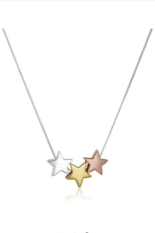 3 Colored Sterling Stars