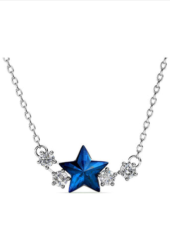 Blue Star Necklace
