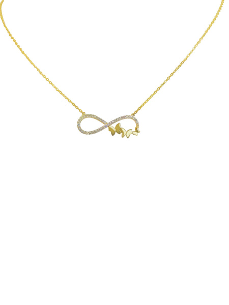 Infinity Butterfly Pendant Necklace