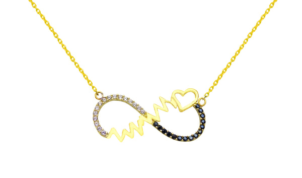 Infinity Heartbeat Necklace