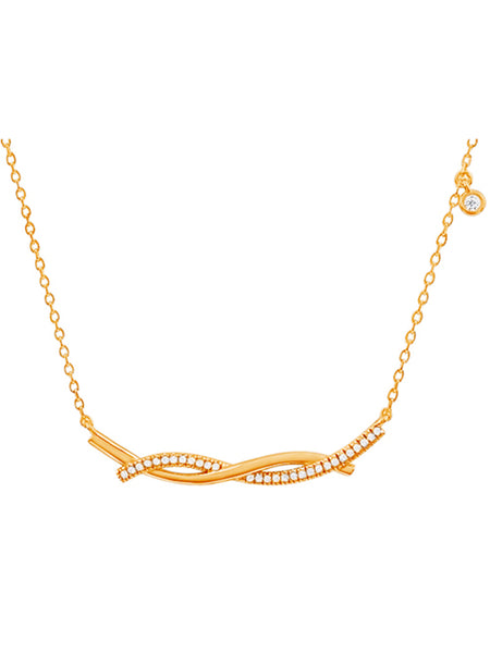 Intertwining Lines Necklace