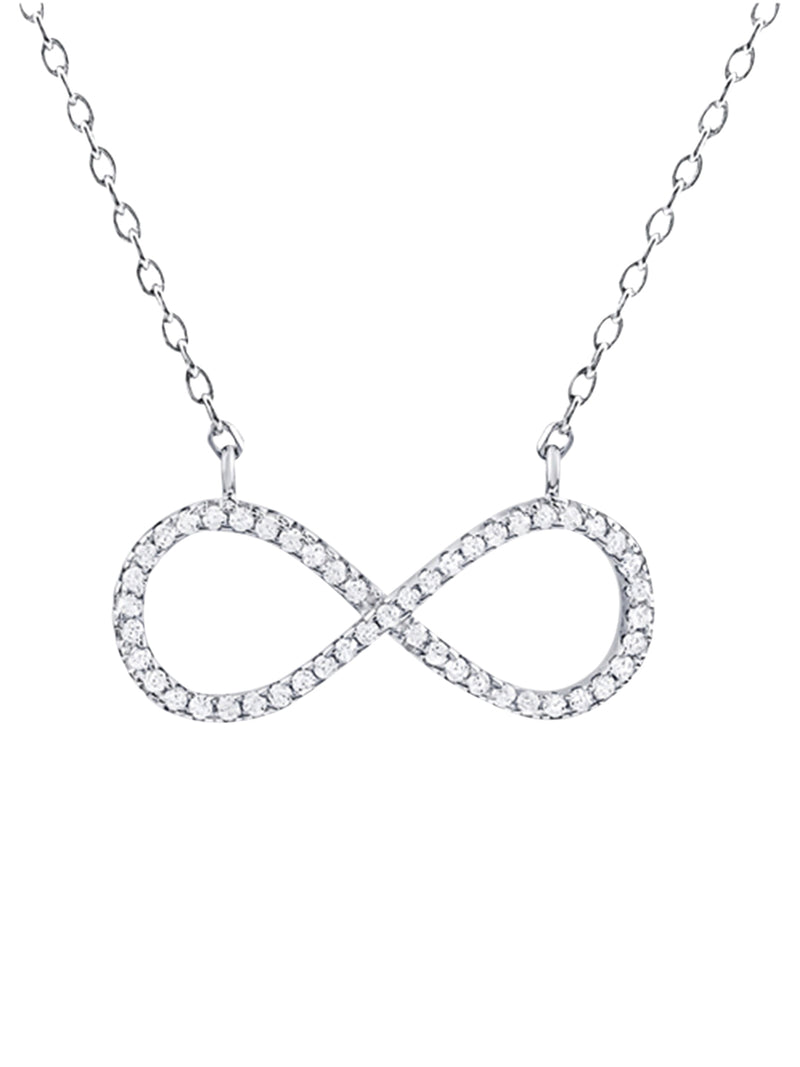 Thin Infinity Gem Necklace