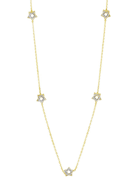 Spaced Star Necklace