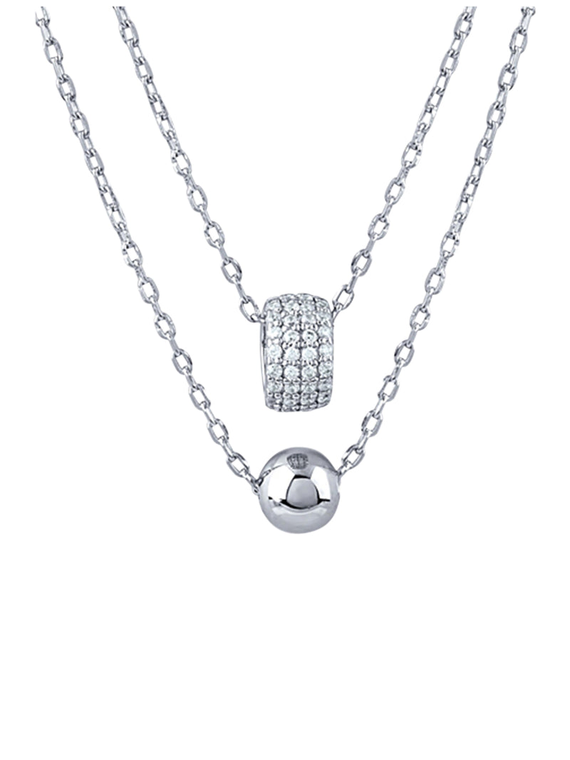 Double Layer Ball Pendant Necklace