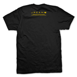 Jream Jiu-jitsu Rules Everything Around Me Tee. White and Yellow print on Black T-Shirt.
