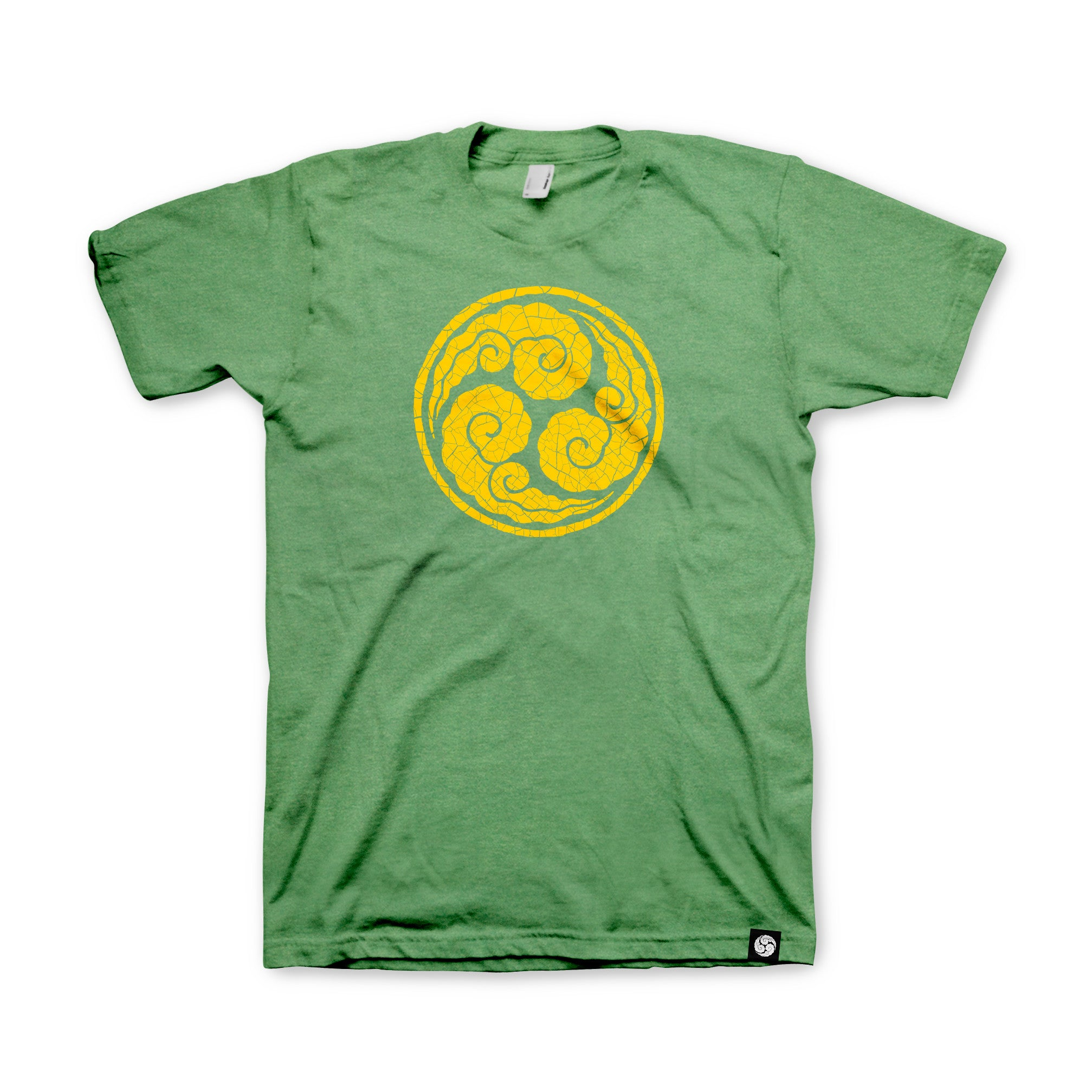 Mitsudomoe Tee — Heather Green
