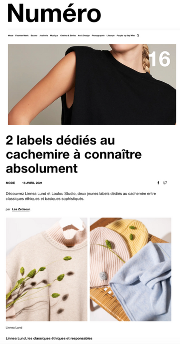 Numéro magazine likes cashmere just like us