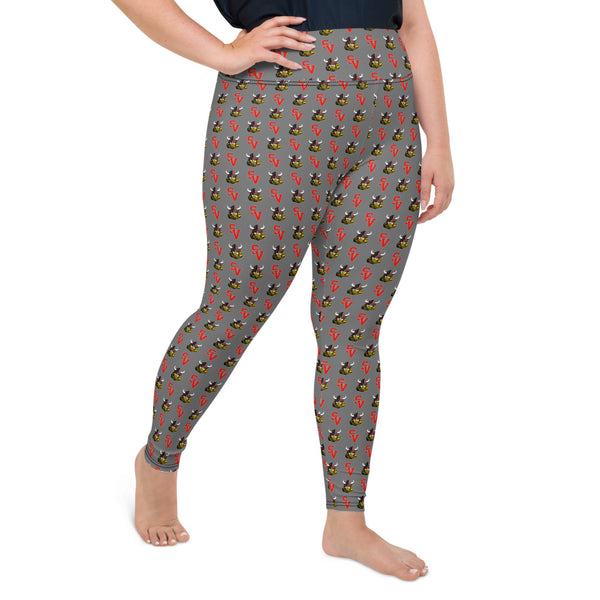 Symmes Valley All-Over Print Plus Size Leggings