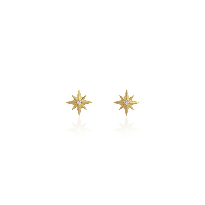 TREASURE THE LITTLE THINGS - SHINE BRIGHT - GOLD EARRING BOX