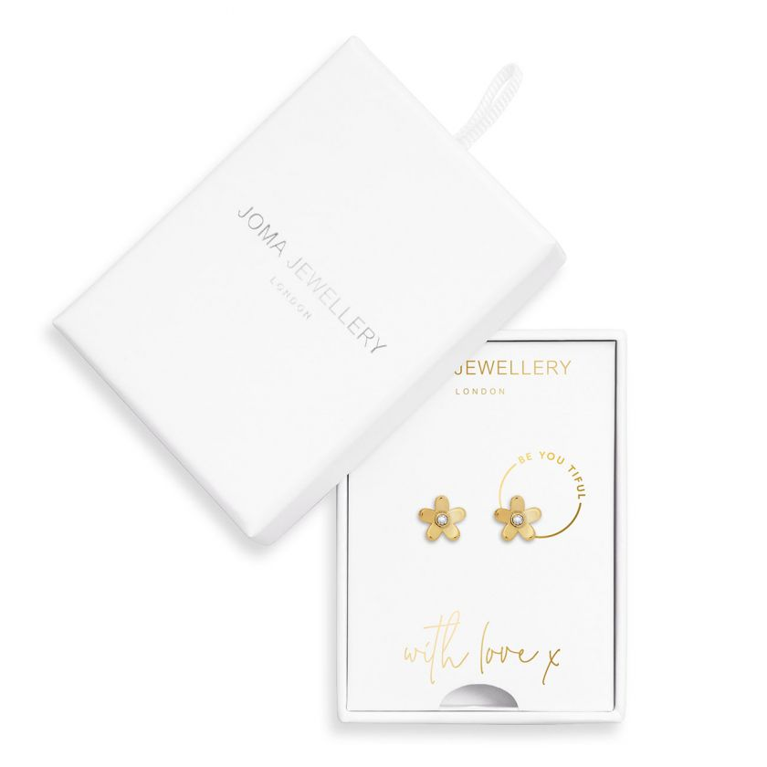 TREASURE THE LITTLE THINGS - BE YOU TIFUL - GOLD EARRING BOX