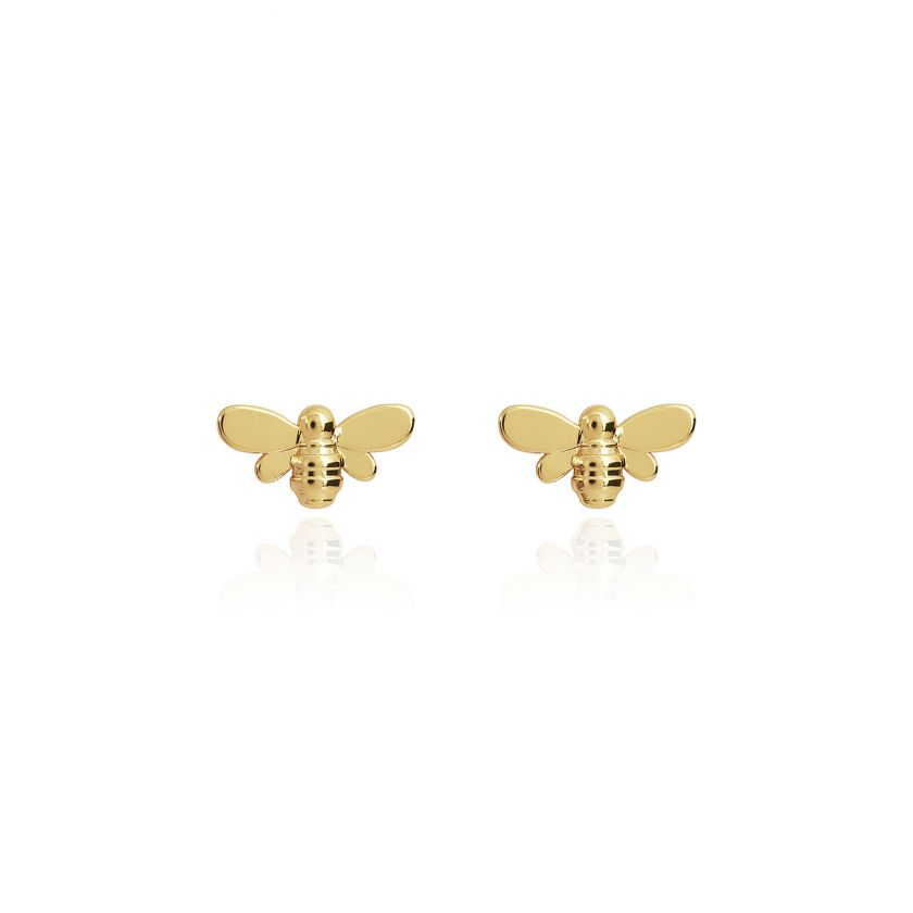 TREASURE THE LITTLE THINGS - BEE HAPPY - GOLD EARRING BOX