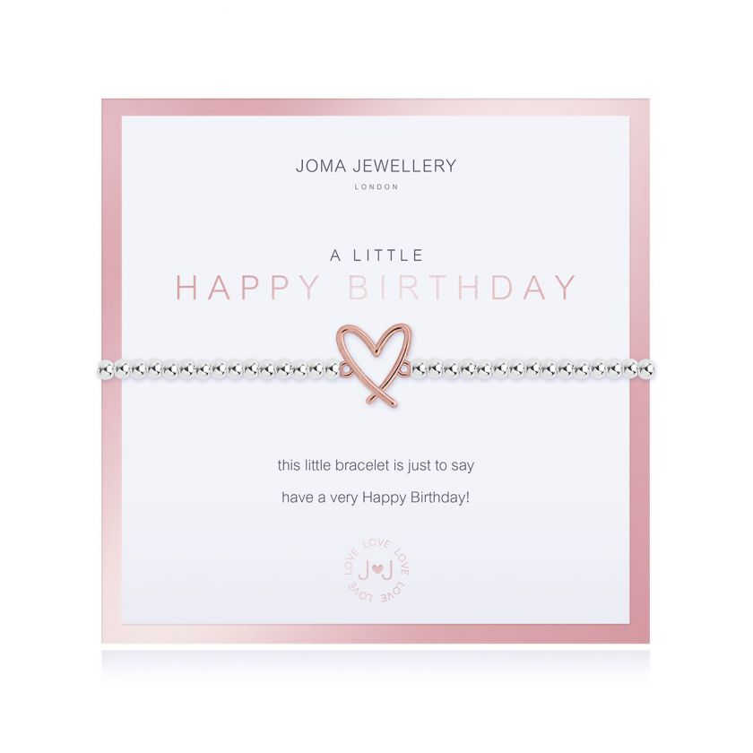 BEAUTIFULLY BOXED A LITTLES - HAPPY BIRTHDAY - BRACELET
