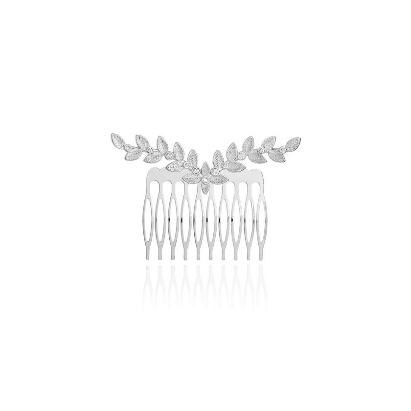 HAPPY EVER AFTER HAIR ACCESSORIES - CZ LEAF HAIR COMB