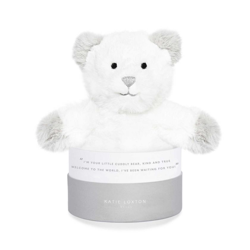 BEAR BABY TOY - WELCOME TO THE WORLD - GREY