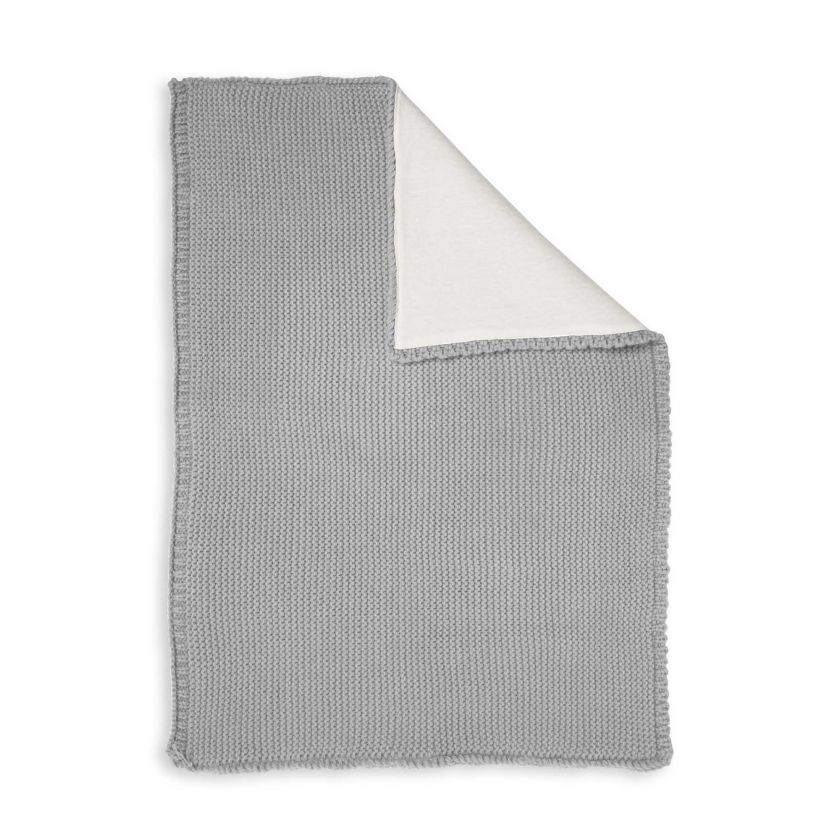 KNITTED BABY BLANKET - GREY