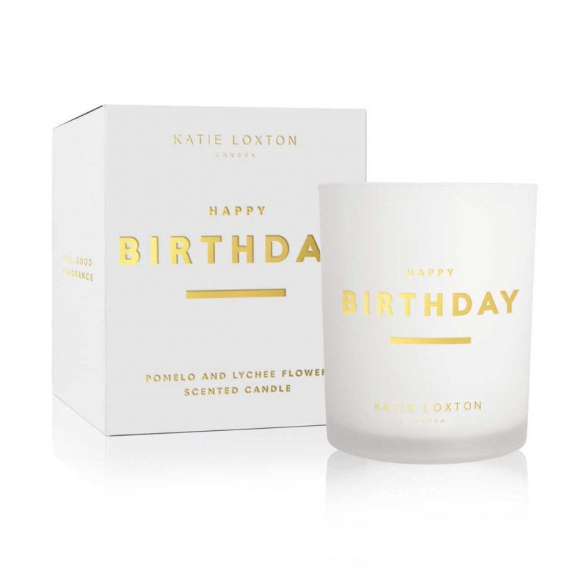 SENTIMENT CANDLE - HAPPY BIRTHDAY - POMELO AND LYCHEE FLOWER