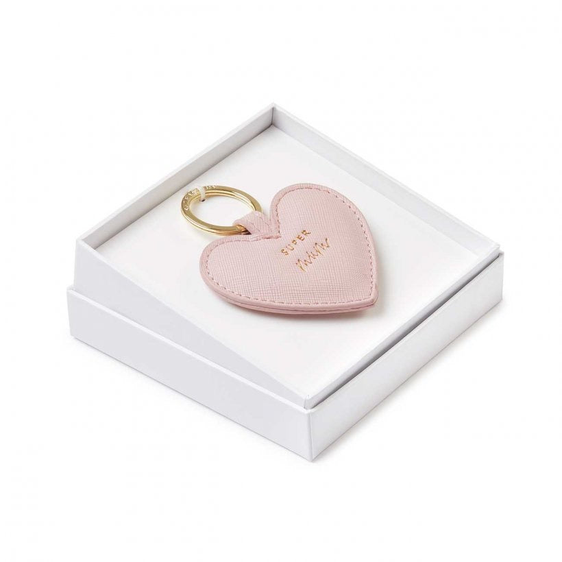 BEAUTIFULLY BOXED SENTIMENT KEYRING - SUPER MUM - NUDE PINK