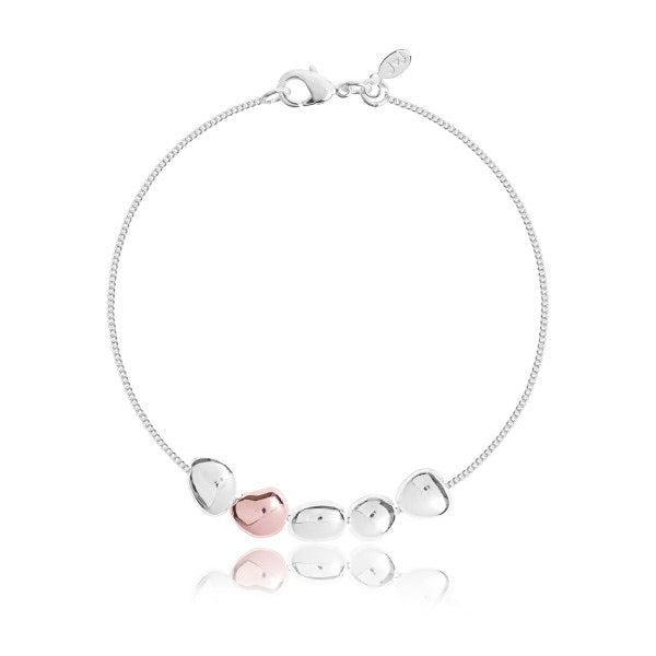 PRETTY PEBBLE - SILVER & ROSE GOLD - BRACELET