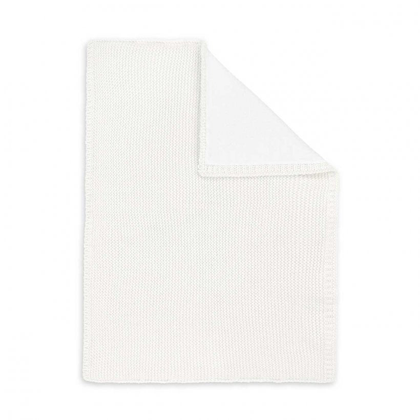 COTTON KNITTED BABY BLANKET - WHITE
