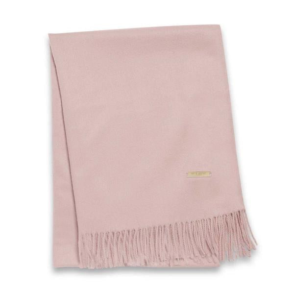 WRAPPED UP IN LOVE BOXED SCARF - BLUSH PINK