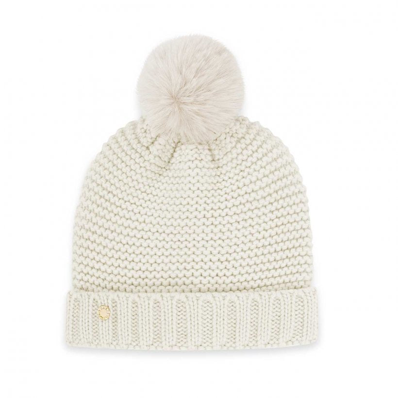 CHUNKY KNIT HAT - CREAM