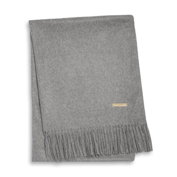 WRAPPED UP IN LOVE BOXED SCARF - GREY
