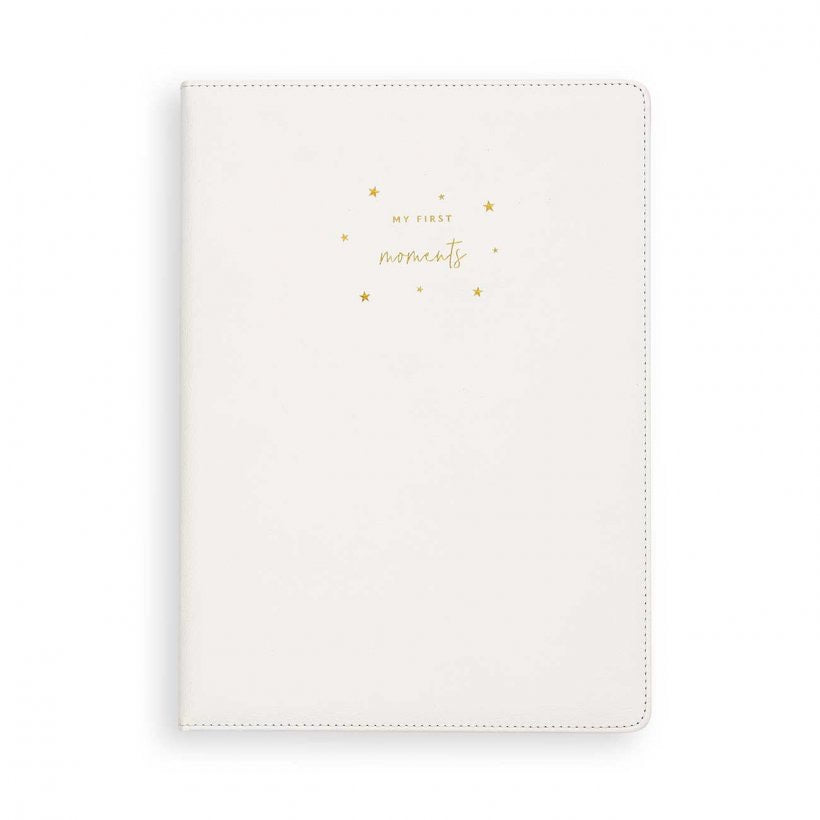 A4 BABY KEEPSAKE BOOK - MY FIRST MOMENTS - WHITE