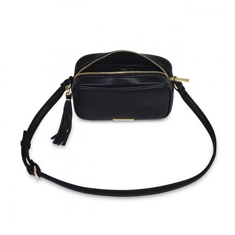 SOPHIA TASSEL CROSSBODY BAG - BLACK