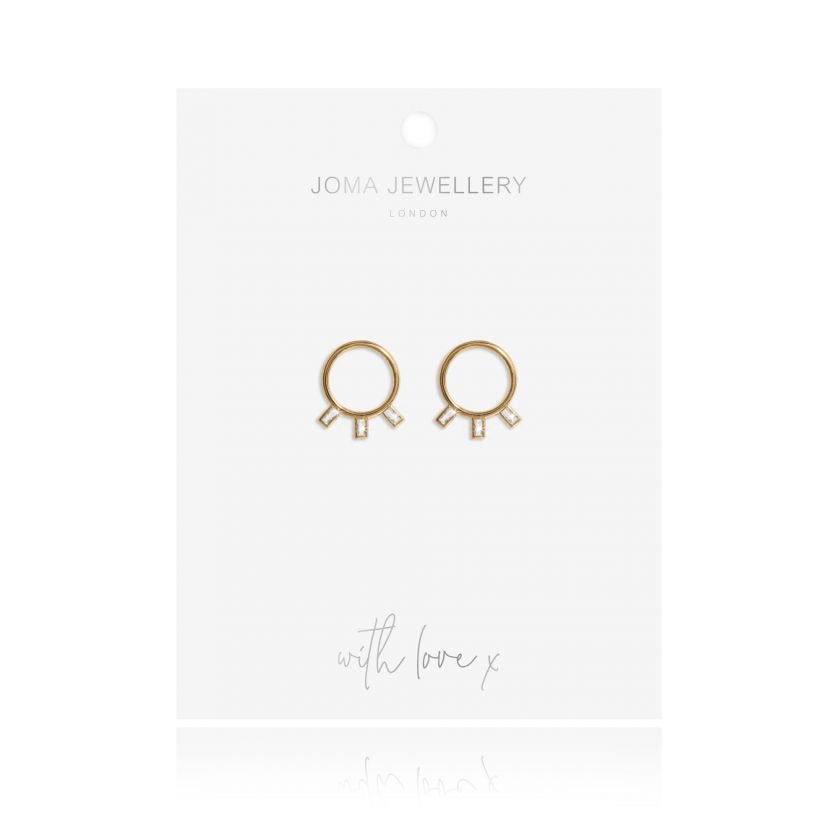 STATEMENT STUDS CRYSTAL CIRCLE EARRINGS