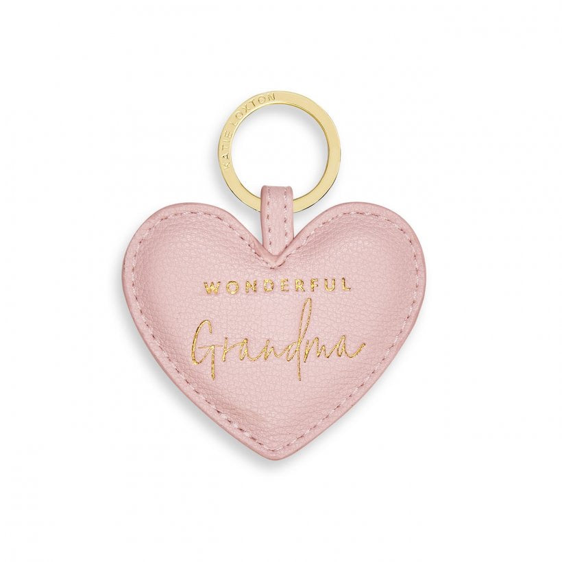 BEAUTIFULLY BOXED SENTIMENT HEART KEYRING - WONDERFUL GRANDMA