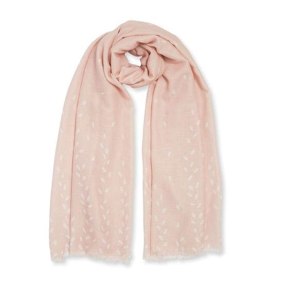 WRAPPED UP IN LOVE BOXED SCARF - HELLO LOVELY - NUDE PINK