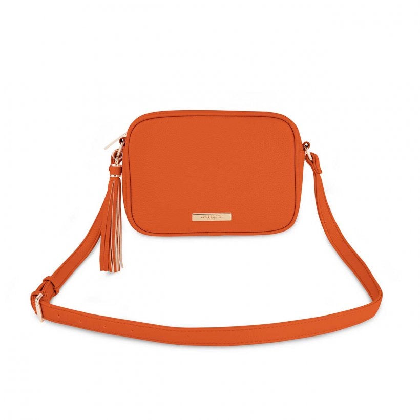 SOPHIA TASSEL CROSSBODY BAG - ORANGE