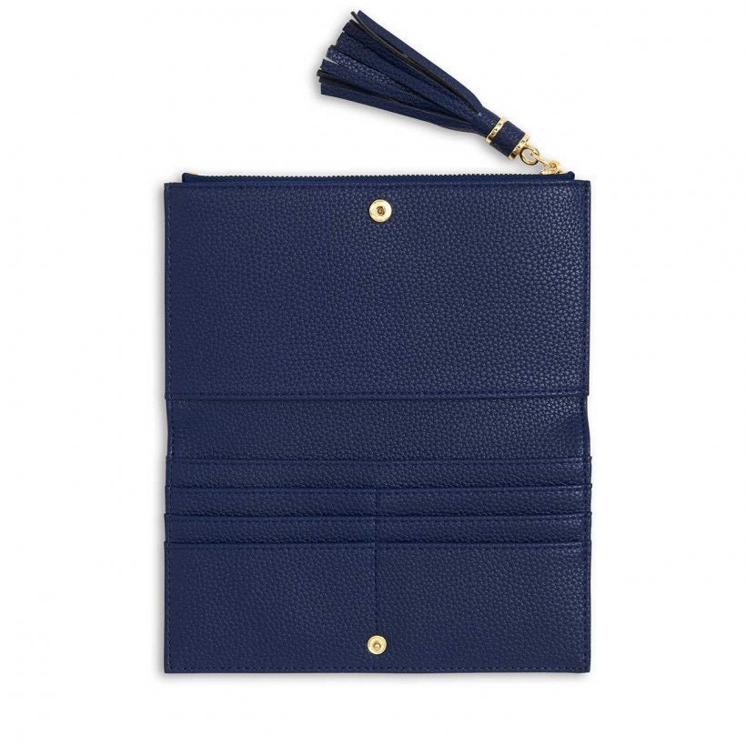 TASSEL FOLD OUT PURSE - NAVY