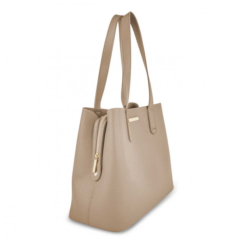 RILEY SHOULDER BAG - TAUPE