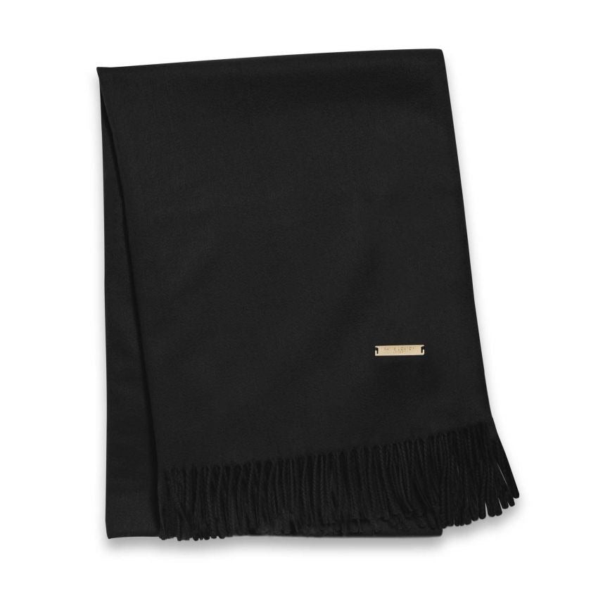 WRAPPED UP IN LOVE BOXED SCARF - BLACK