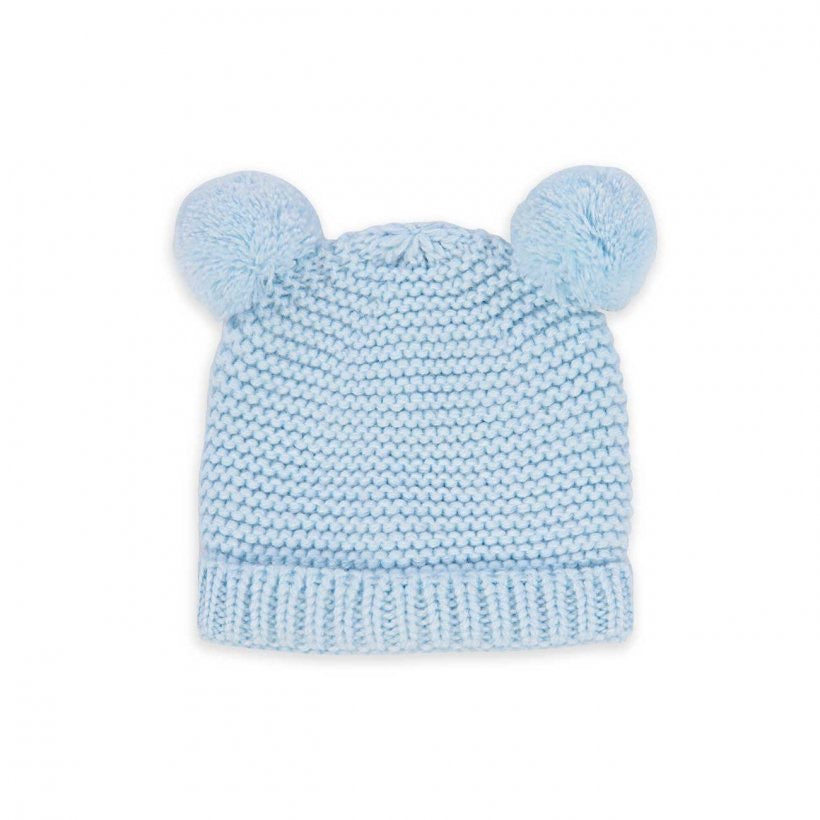 BABY HAT AND MITTENS SET 0-6 MONTHS - BLUE