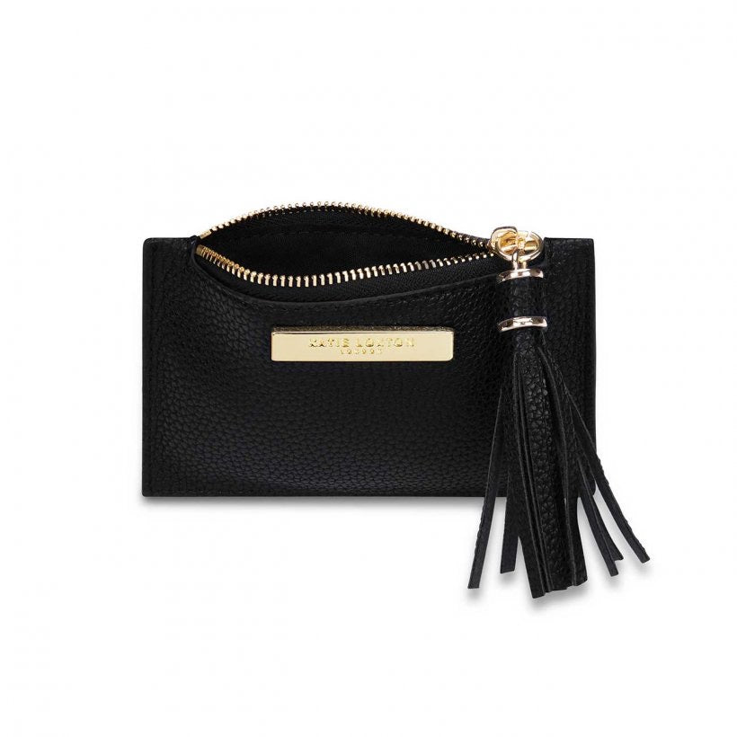 TASSEL CARD HOLDER - BLACK