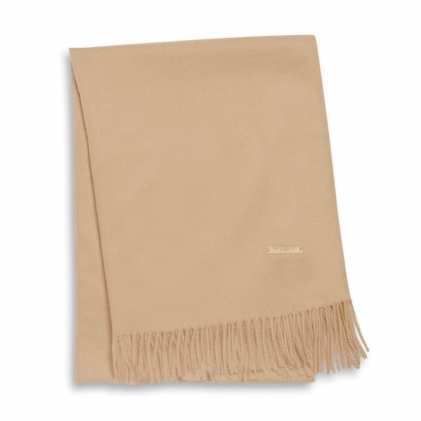 WRAPPED UP IN LOVE BOXED SCARF - CAMEL