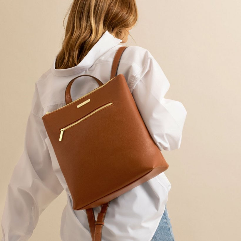 BROOKE BACKPACK - COGNAC