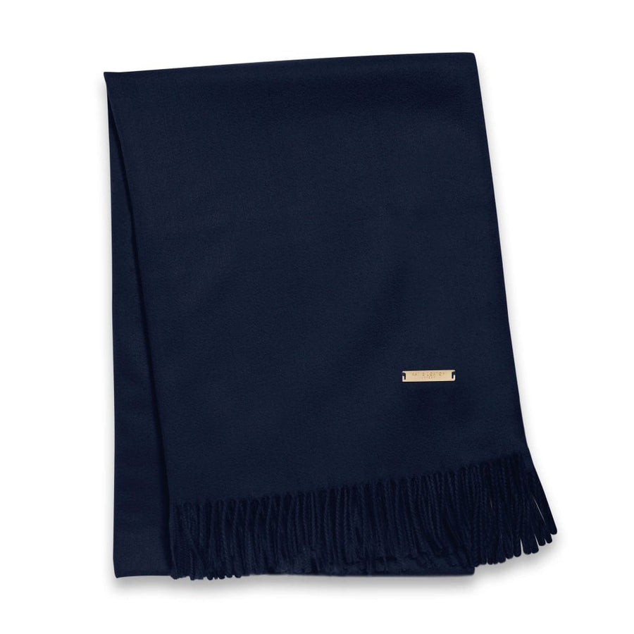 WRAPPED UP IN LOVE BOXED SCARF - NAVY