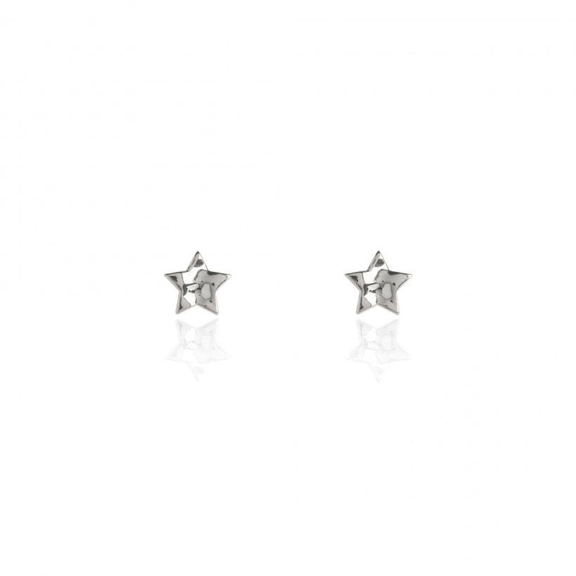 FLORENCE HAMMERED STAR EARRING SET