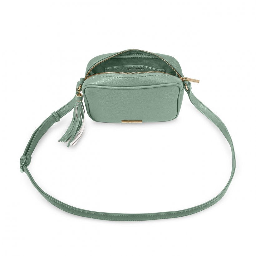 SOPHIA TASSEL CROSSBODY BAG - MINT GREEN