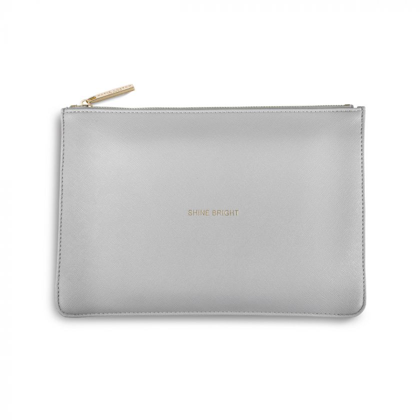 PERFECT POUCH - SHINE BRIGHT - PALE GREY