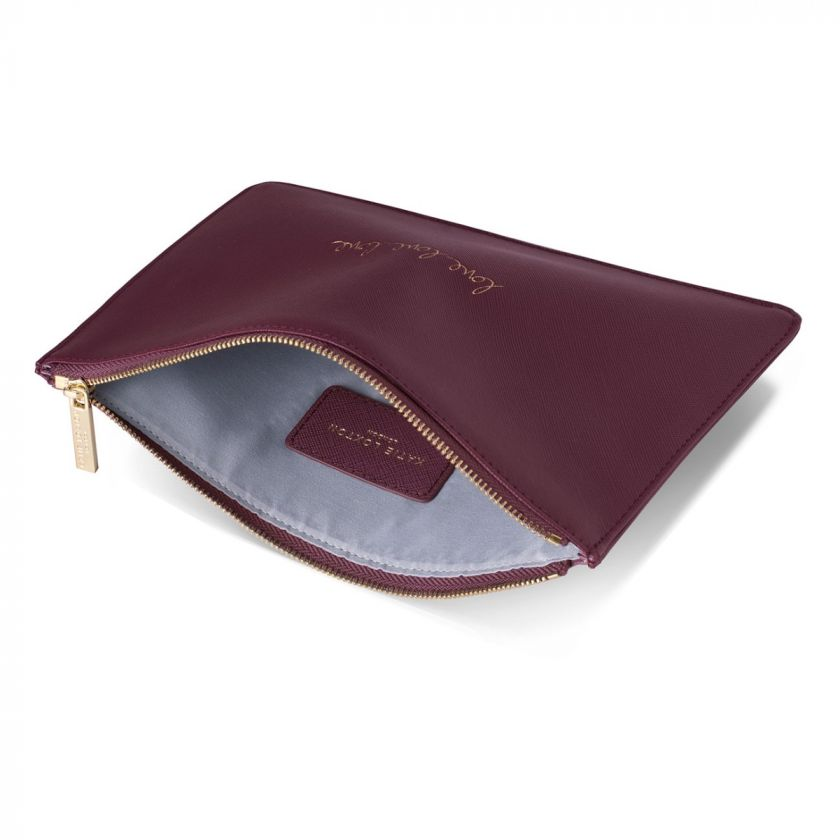 PERFECT POUCH - LOVE LOVE LOVE - BURGUNDY
