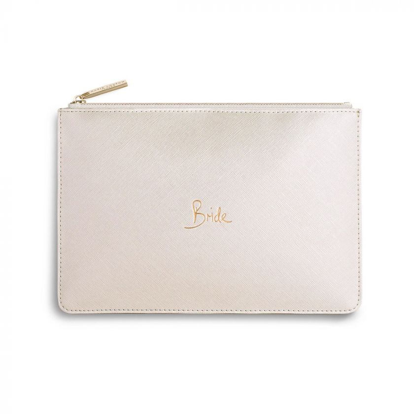 PERFECT POUCH - BRIDE - METALLIC WHITE